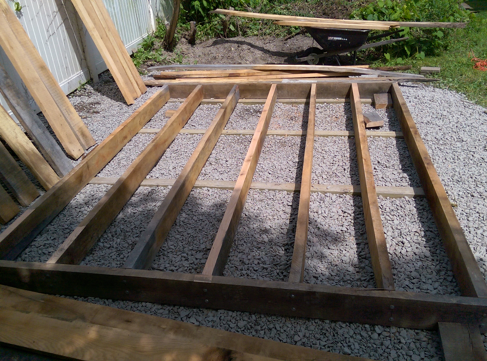 Floor Framing and 4x4 gravel bed base