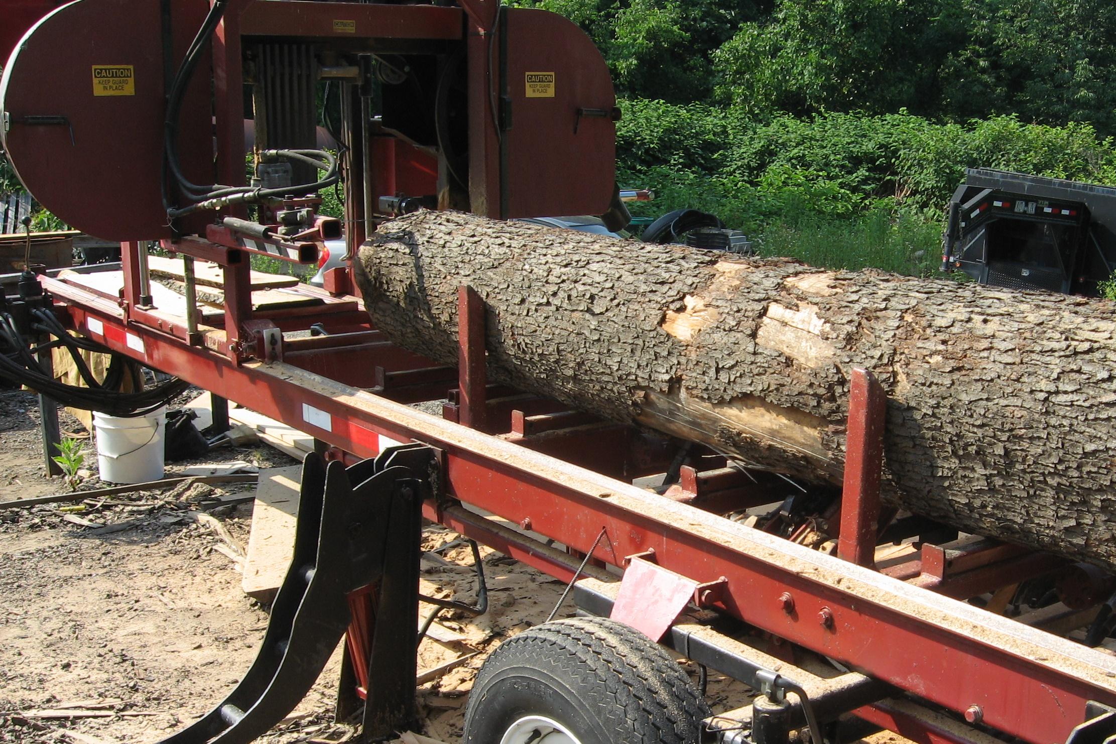 Log on Sawmill